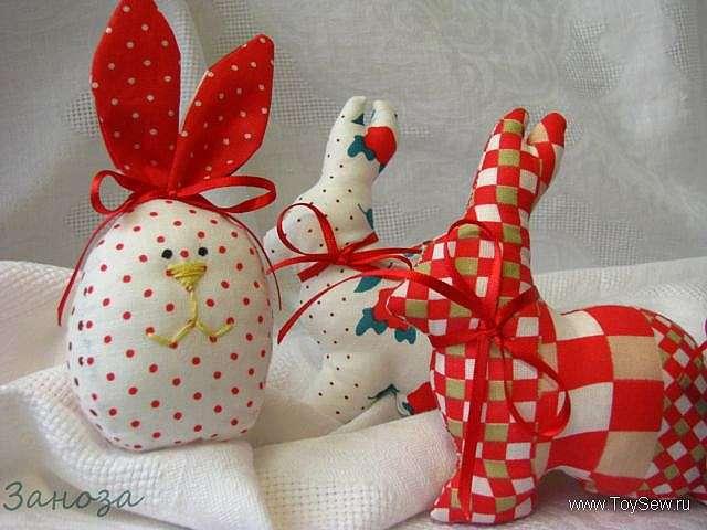 Шьем кролика из ткани к Пасхе