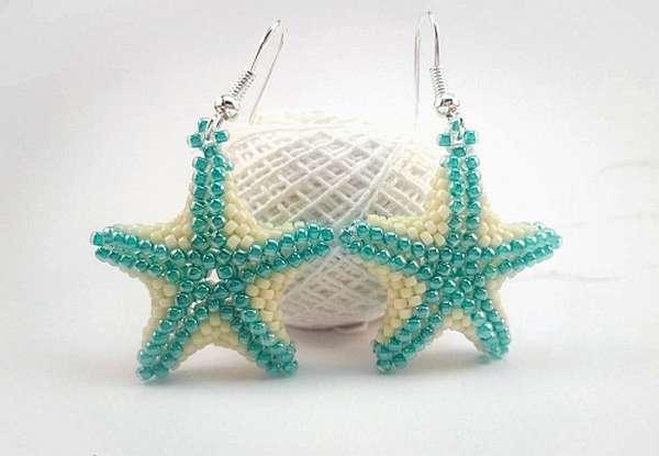 Рыбки, раки и морские звезды из бисера