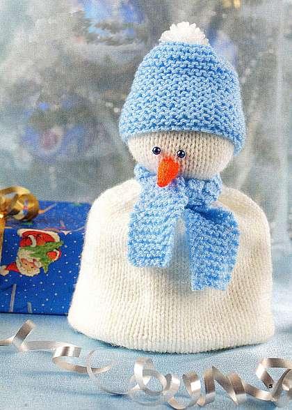 Вязаный снеговик крючком: идеи и мастер класс