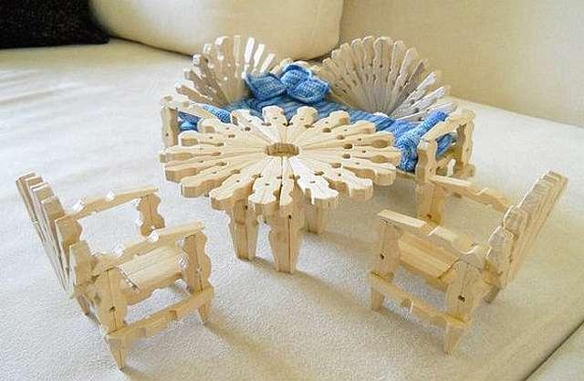 Как сделать стол и стулья для кукол