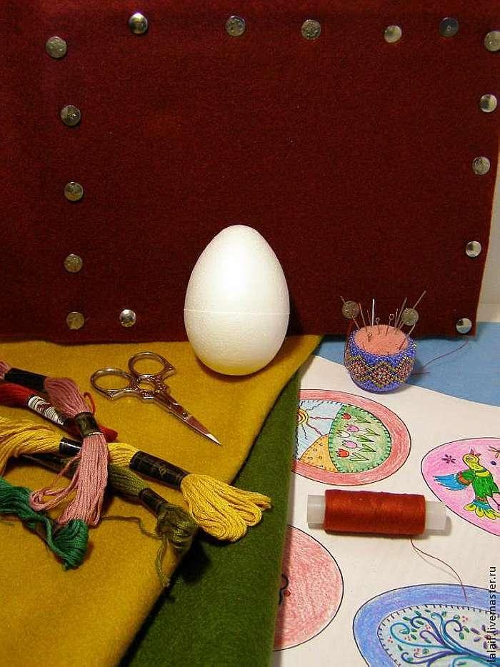 Создание фетровых пасхальных яиц с вышивкой