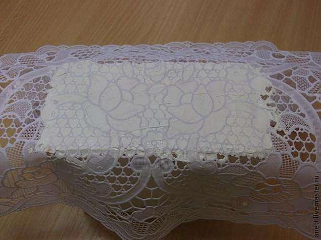 Декорирование шкатулки фактурой для оформления вышивки крестом