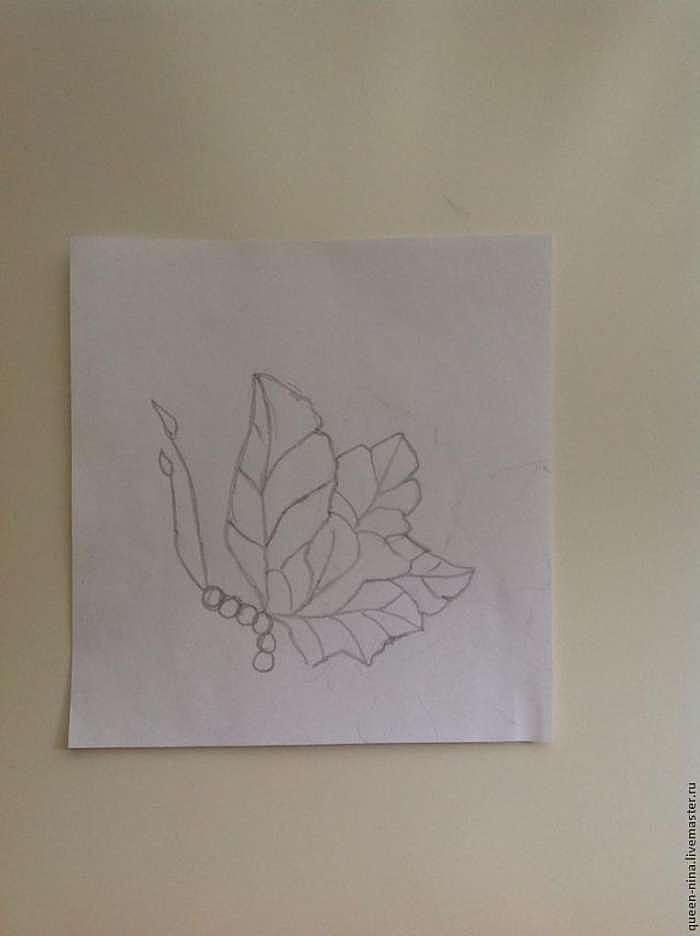"Делаем кулон ""Осенняя бабочка"""
