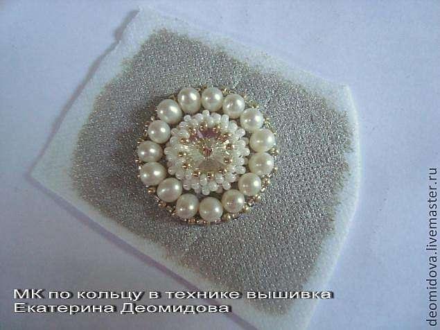 МК по созданию кольца в технике вышивка.