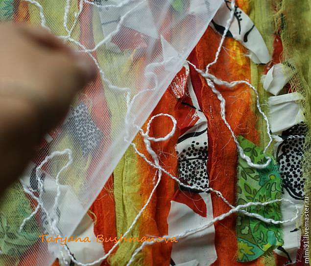 Делаем арт ткань для своих работ