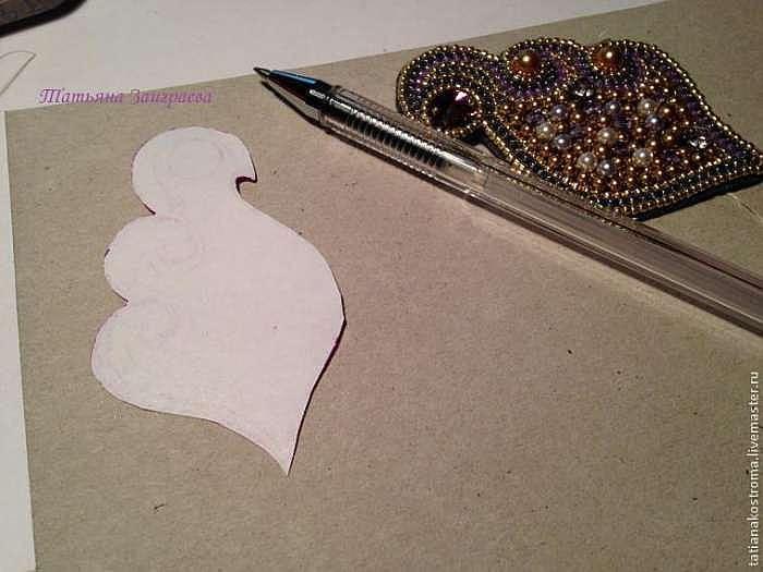 Вышиваем бисером брошь в осенних тонах