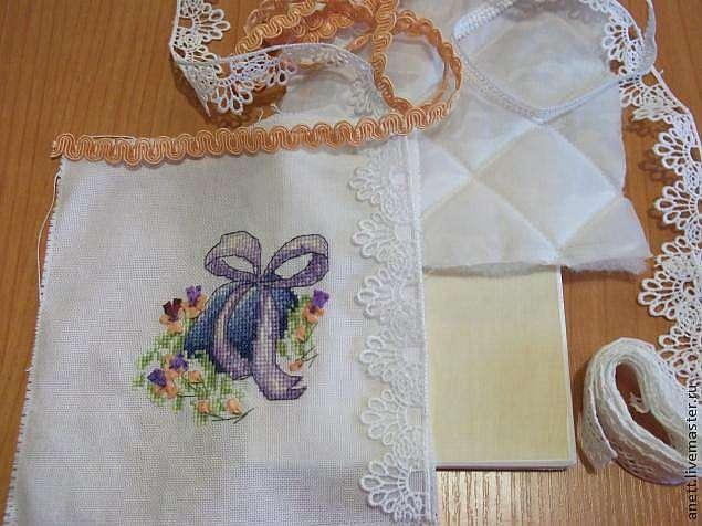 Шкатулки оформление вышивки