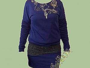 Преображаем простое платье с помощью молний и бисера