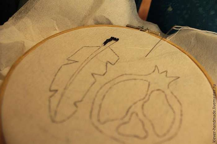 Создание колье «Перо полярной совы» в трёх техниках