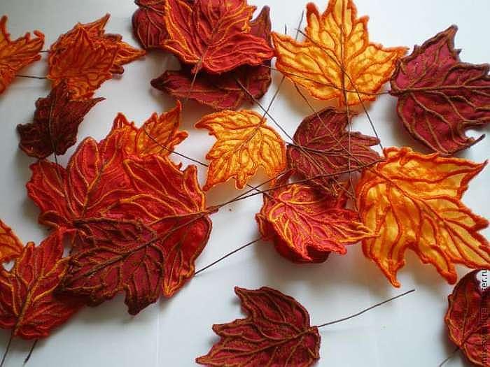Осенний лист своими руками красиво