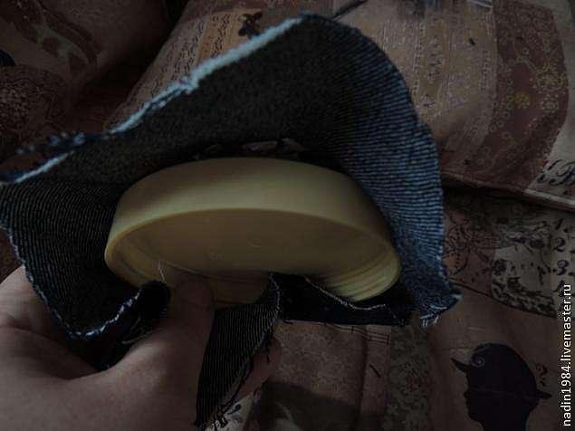 Делаем шкатулку из баночки от крема