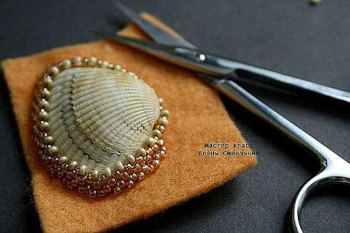 Мастер класс по обшиванию ракушки бисером