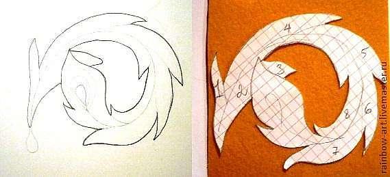 Как сделать перо жар птицы своими руками из бумаги