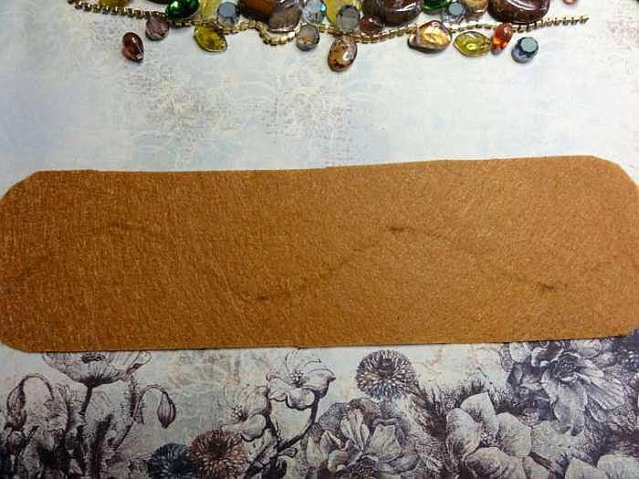 Вышиваем оригинальный ободок с камнями и бусинами