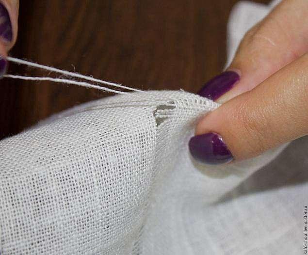 Вышивка мережка на швейной машине