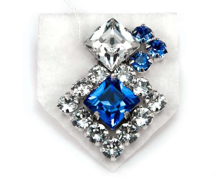 """Мастер-класс: вышивка бисером и кристаллами, серьги """"Небеса"""""""