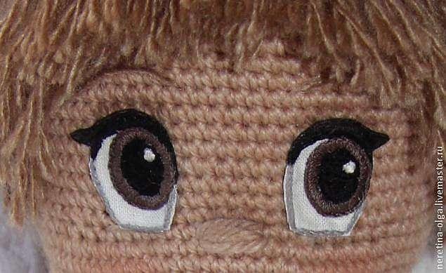 Вышиваем глазки для вязаных игрушек
