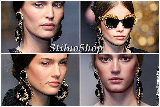 Создаем серьги в стиле Dolce&Gabbana