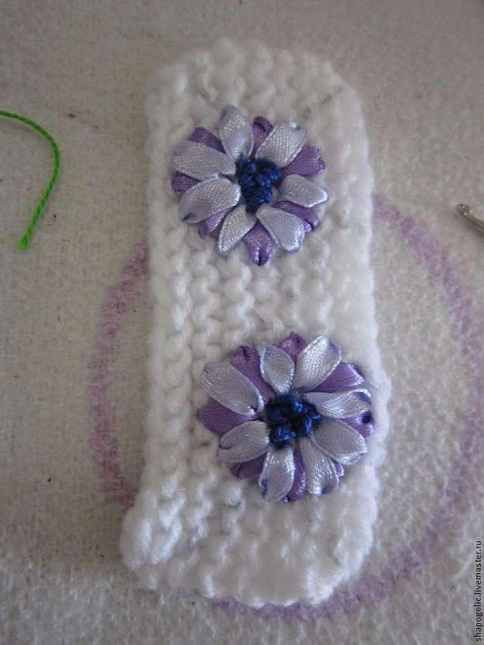 Создаем цветочный декор для шапочки