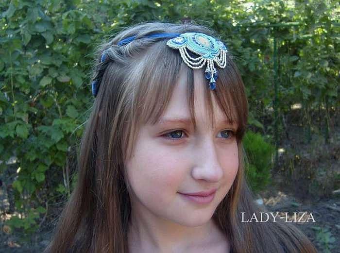 Создаем восточное украшение в прическу для девочки