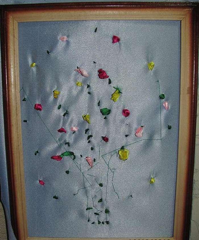 "Мастер-класс. Картина ""Тюльпаны""  из Атласных Лент."