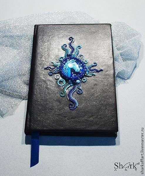 Ежедневник с вышивкой бисером.