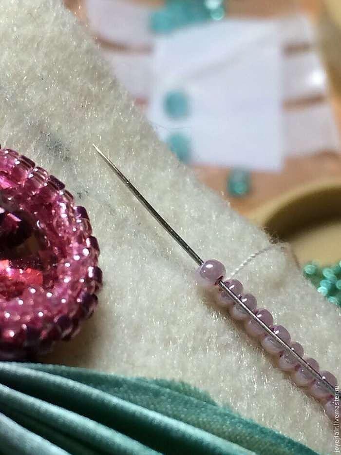 """Как сделать чудесный браслет """"Primavera"""" с шибори-лентой"""