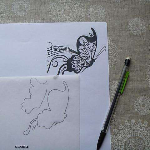 Ажурная Бабочка. Часть I. Аппликация