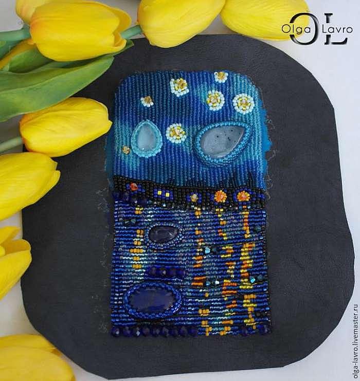 Чехол для телефона по мотивам картины Ван Гога «Звёздная ночь над Роной»