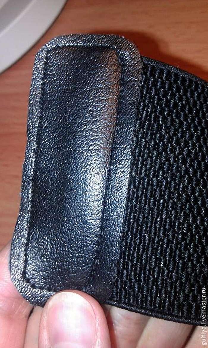 Процесс изготовления пояса-резинки со съёмным вышитым элементом