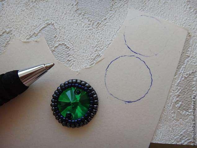 Длинные серьги из бисера с кристаллами