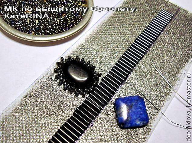 """Вышитый бисером браслет в египетском стиле """"Нехбет"""""""