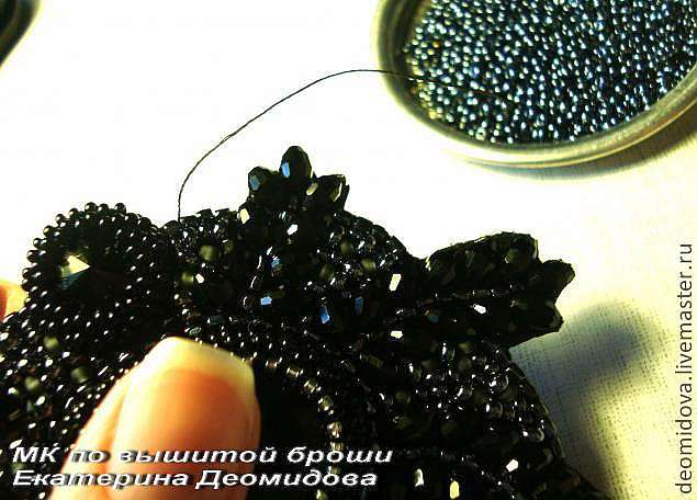 МК по созданию Броши с хрусталем и кристаллами.
