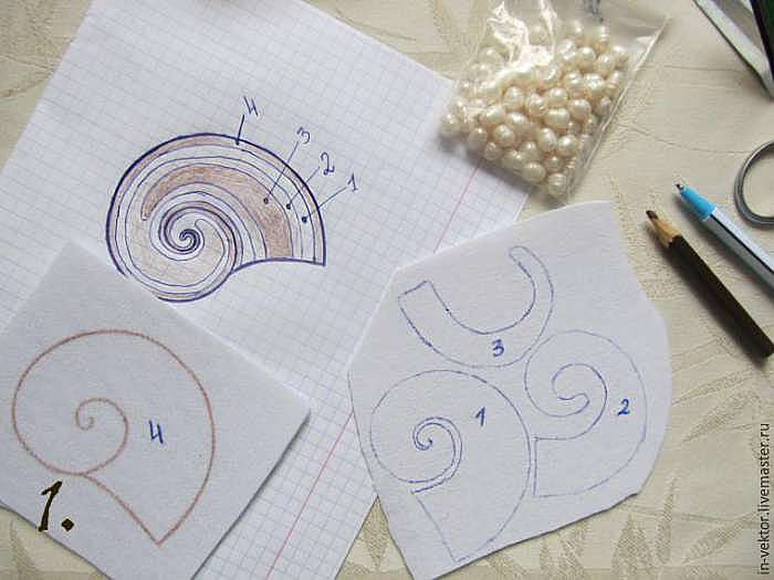 Вышиваем бисером кулон «Наутилус»