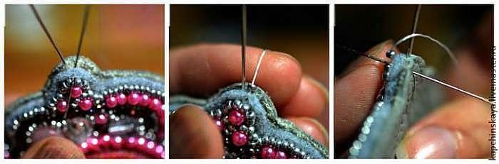 Вышиваем кулон «Кристальный звон»