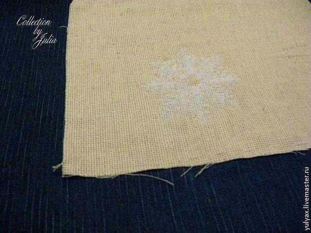 Как сделать вышивку на плотной ткани