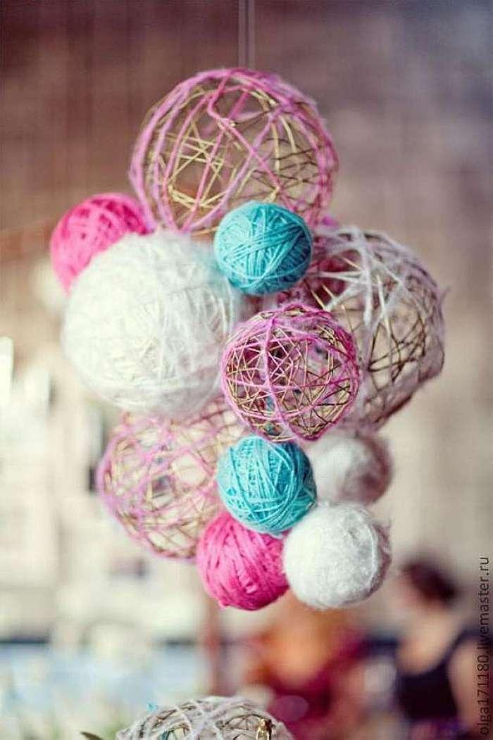 Декор своими руками шары паутинки
