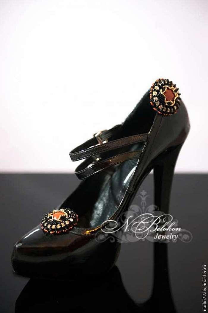 Клипсы для обуви. Вышивка бисером