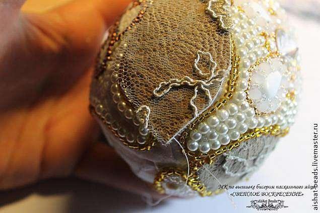 Мастер-класс по вышивке бисером пасхального яйца с подставкой