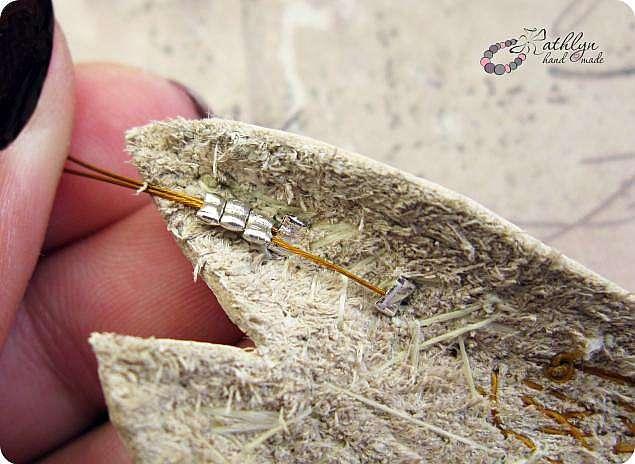 Мини МК - сборка бисерного колье на ювелирный тросик.