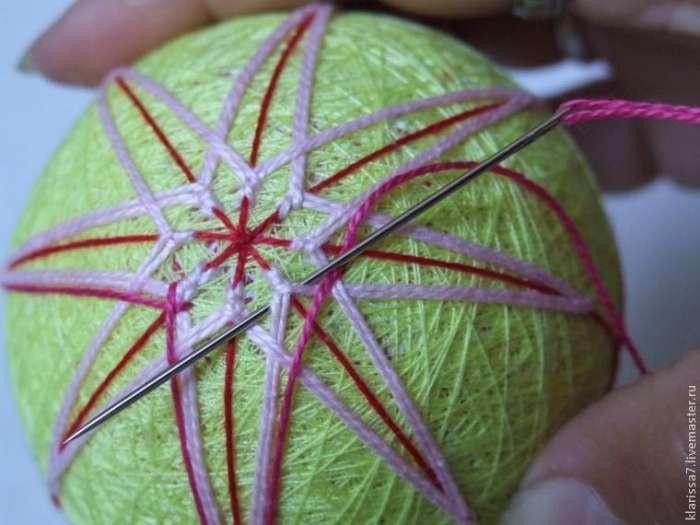 Темари. Вышивка классической кику