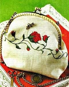 Вышиваем в винтажном стиле на сумочках