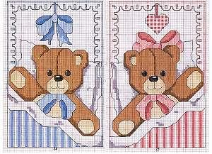 Прекрасные схемы детских метрик для вышивки крестом