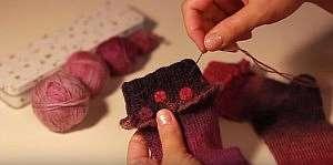 Обучающие видео-уроки по вышивке на вязаном полотне