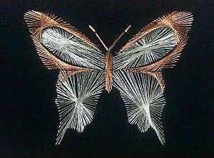 Как вышить бабочку в технике изонити