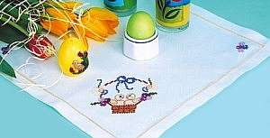 Схемы для вышивки крестом красивых салфеток