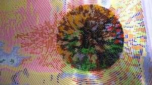 Учимся полной зашивке картины бисером на примере круговой техники