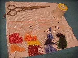Первые занятия для начинающих по вышивке бисером