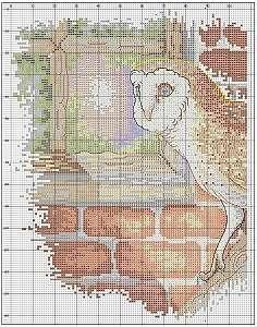 Вышивка крестом с изображениями совушек