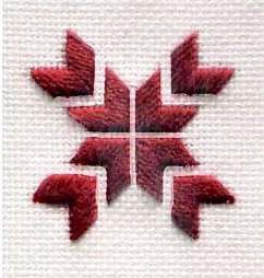 Обучающие уроки по вышивке крестом и гладью в три нити